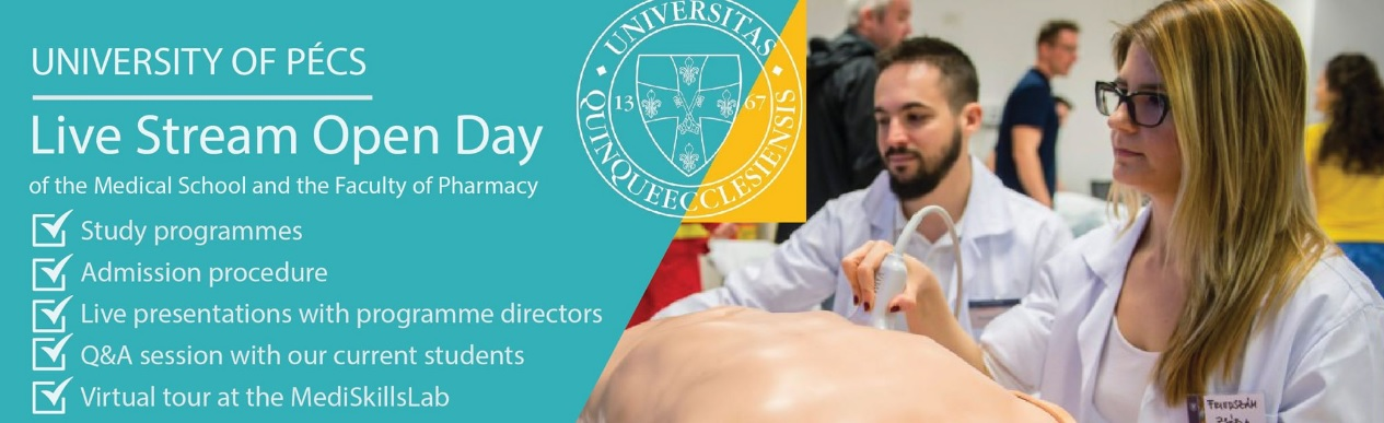 Live Stream Open Day of the Medical School and the Faculty of Pharmacy - you can view the recorded video